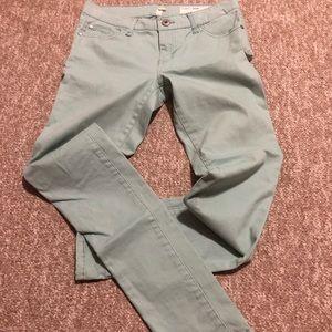 LeChateau Mint Green Skinny Jeans